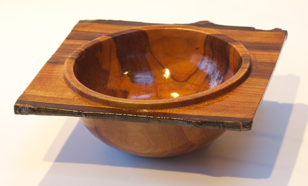 Square bowl, Japanese Cherry