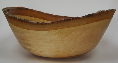Natural edge silver birch bowl